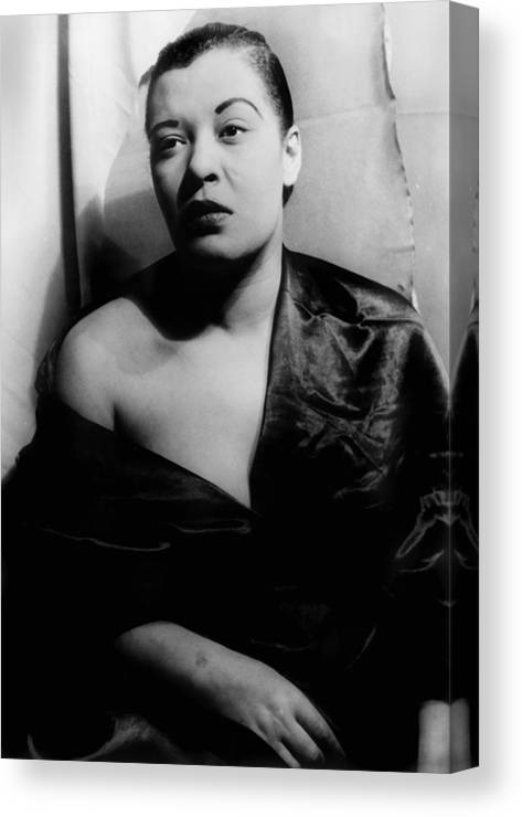 1940s Canvas Print featuring the photograph Billie Holiday, Portrait By Carl Van by Everett