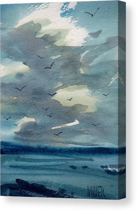 Seascape Canvas Print featuring the painting Pacific Seascape by Donald Maier