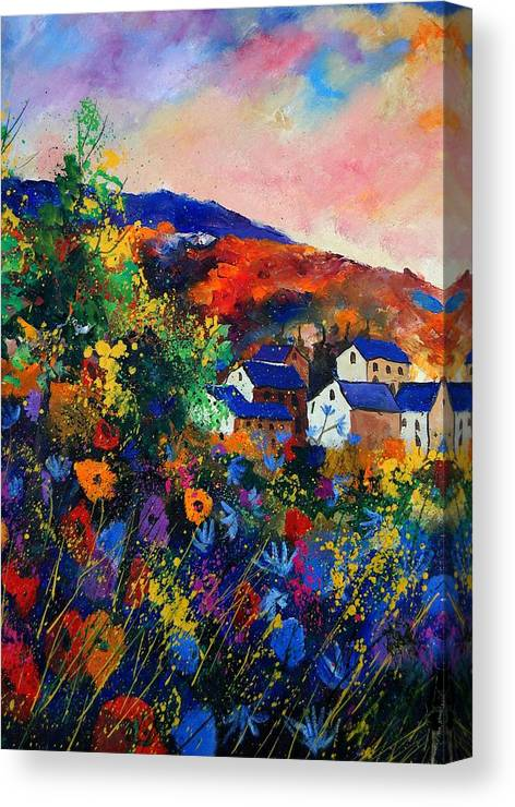 Landscape Canvas Print featuring the painting Summer by Pol Ledent