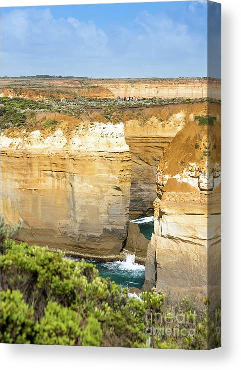 Aussie Canvas Print featuring the photograph Loch Ard Gorge by Andrew Michael