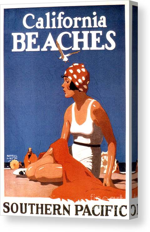California Canvas Print featuring the photograph California Beaches by Jon Neidert