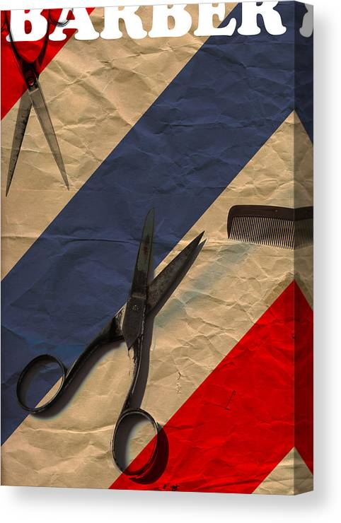 Barber Canvas Print featuring the digital art Barber by Shawn Ross