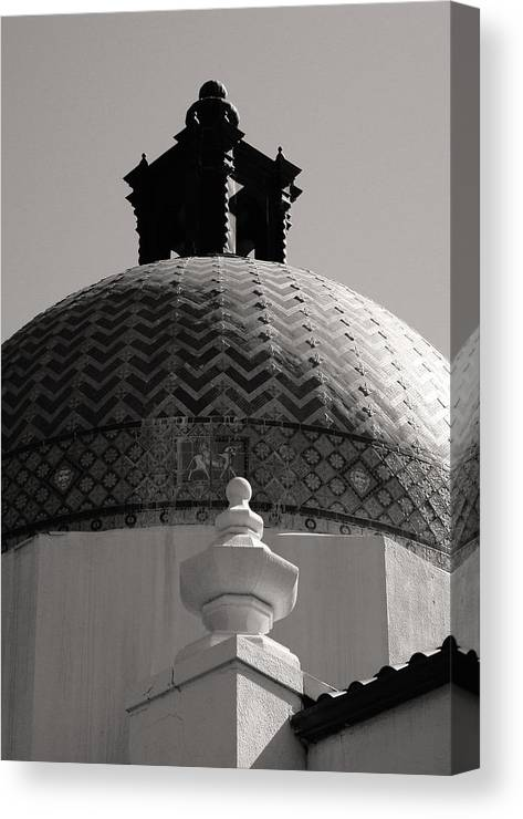 Hot Springs National Park Canvas Print featuring the photograph Bathhouse Row Hot Springs National Park by Brian M Lumley