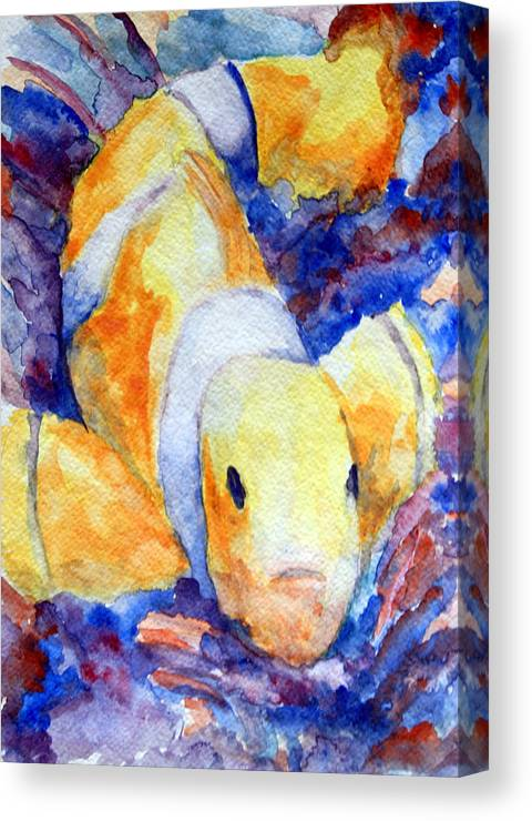Marine Art Canvas Print featuring the painting Clown Fish by Mike Segura