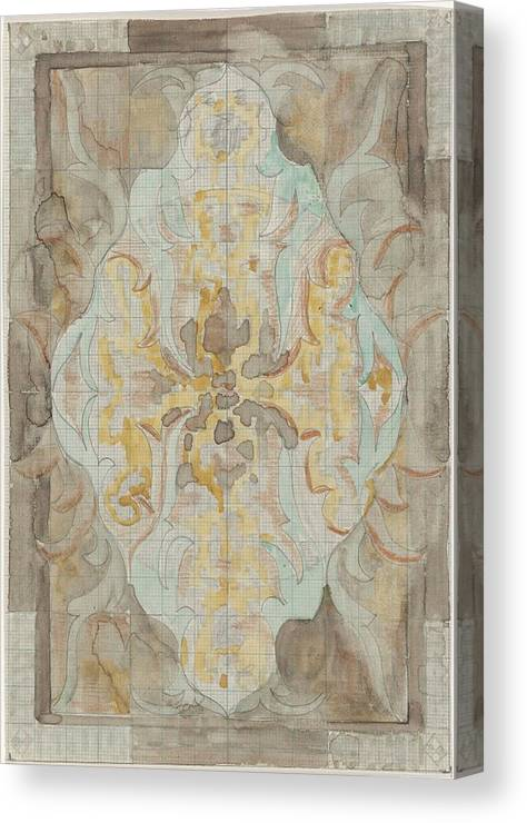 Pattern Canvas Print featuring the painting Decorative Design, Carel Adolph Lion Cachet, 1874 - 1945 Vs by Carel Adolph Lion Cachet