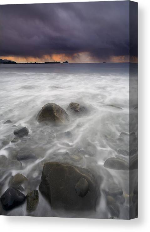Storm Canvas Print featuring the photograph Fingers Of The Storm by Mike Dawson