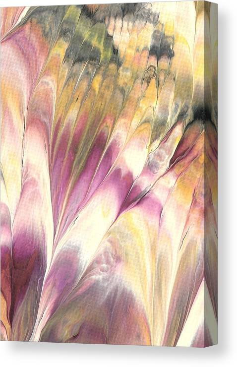 Flower Canvas Print featuring the painting Floral Fusion by Linda Stevenson