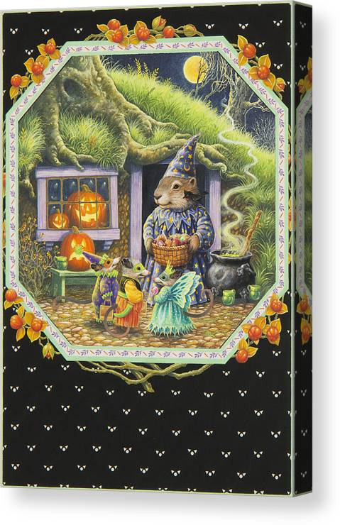 Halloween Canvas Print featuring the painting Halloween Treats by Lynn Bywaters