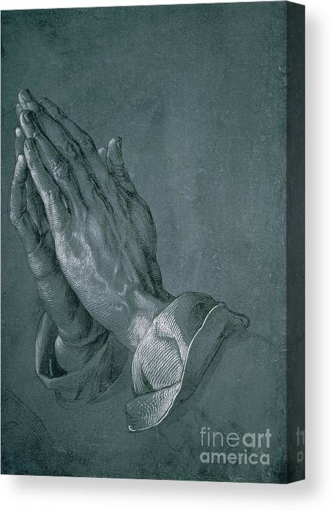 Hands Of An Apostle Canvas Print featuring the drawing Hands Of An Apostle by Albrecht Durer