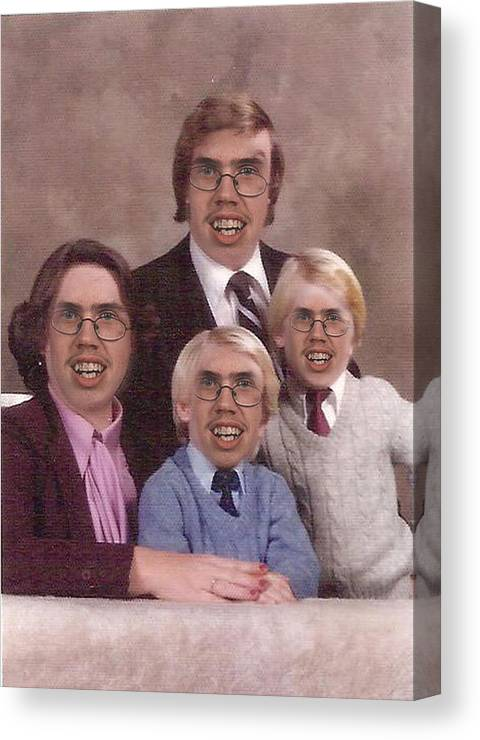 Happy Family Canvas Print featuring the digital art Happy Family by Dylan Studebaker