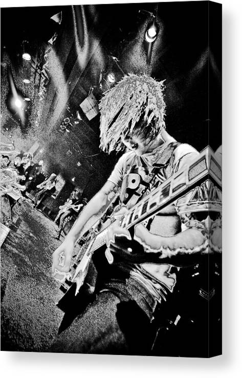 Band Canvas Print featuring the photograph 'life Will Soon Fall Away Yet The Static Forever Stays II' by Adam M Dee