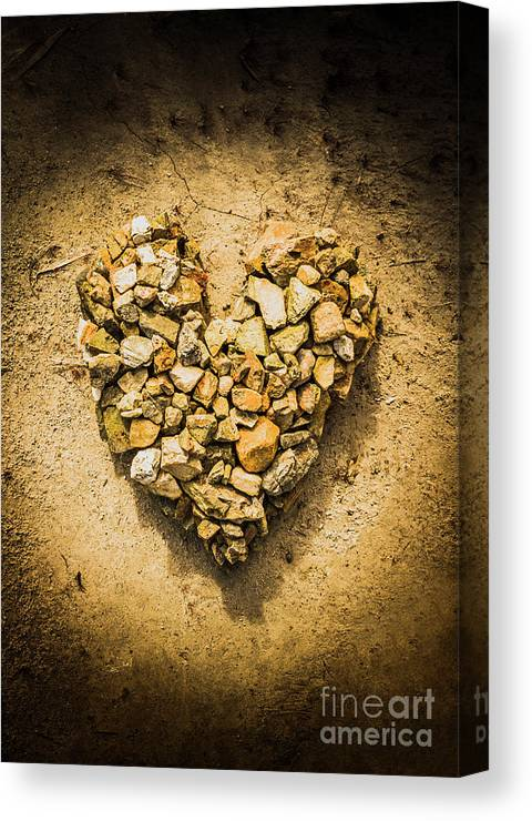 Love Canvas Print featuring the photograph Rustic Rock Romance by Jorgo Photography - Wall Art Gallery