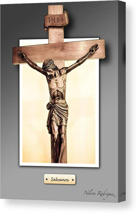Photo Canvas Print featuring the digital art Save Us by Nelson Rodriguez