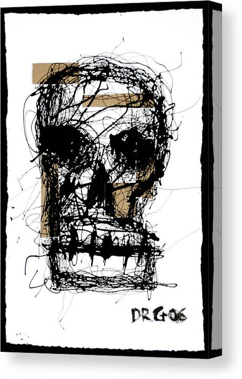 Abstract Canvas Print featuring the painting Skull by Dmitry Gubin