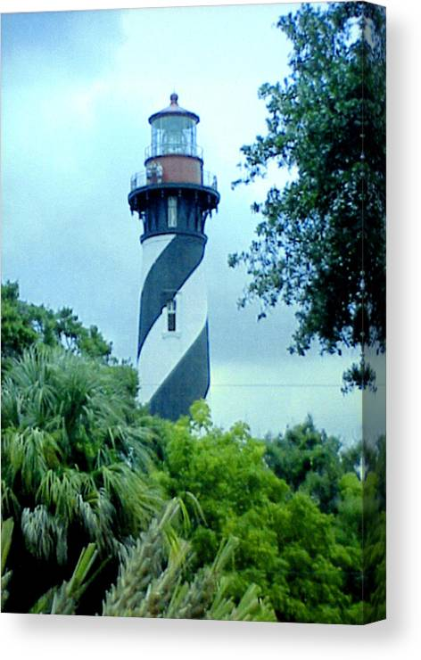 St Augustine Lighthouse Artwork Canvas Print featuring the photograph St Augustine Lighthouse by Frederic Kohli