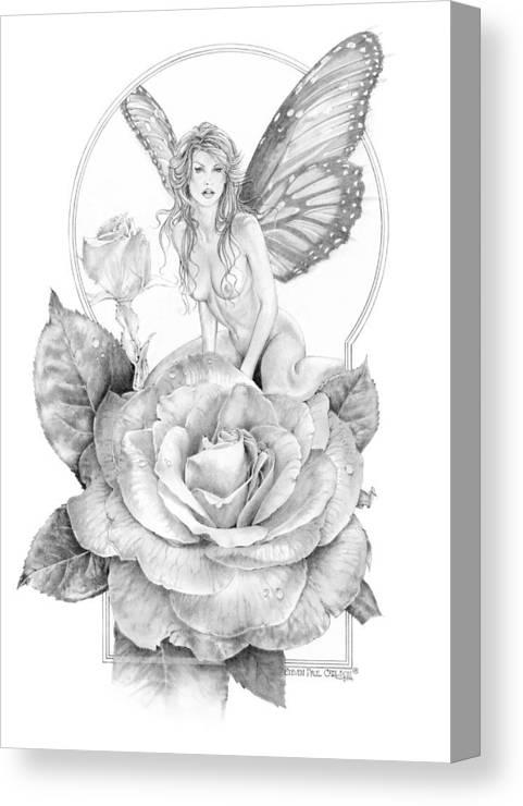 Faerie Canvas Print featuring the drawing Summer Faerie - The Season Faeries by Steven Paul Carlson