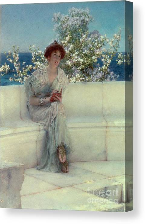 The Canvas Print featuring the painting The Year's At The Spring - All's Right With The World by Sir Lawrence Alma-Tadema