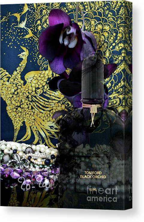 Tom Ford Canvas Print featuring the digital art Tom Ford Black Orchid  Perfume 3 by To d85c155b80f