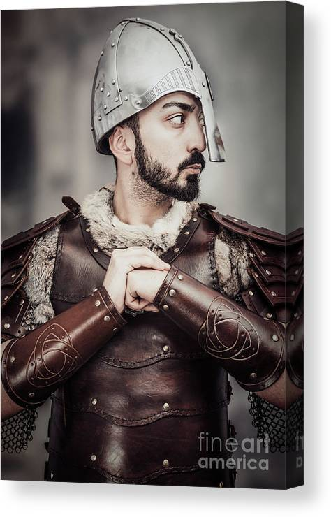 Got Canvas Print featuring the photograph Viking Warrior by Amanda Elwell
