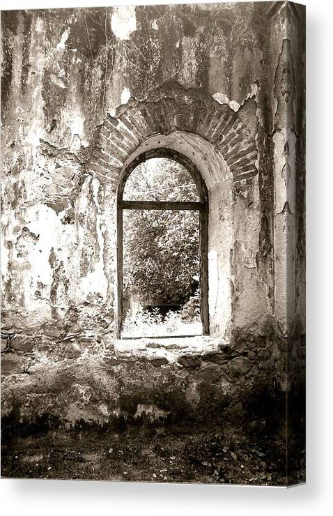 Photograph Canvas Print featuring the photograph Window At The Bottom Of The Canyon by Patricia Bigelow