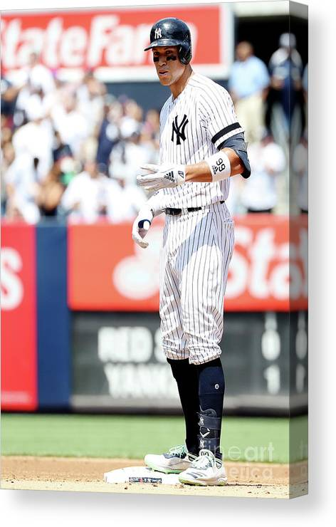 People Canvas Print featuring the photograph Boston Red Sox V New York Yankees - 4 by Elsa