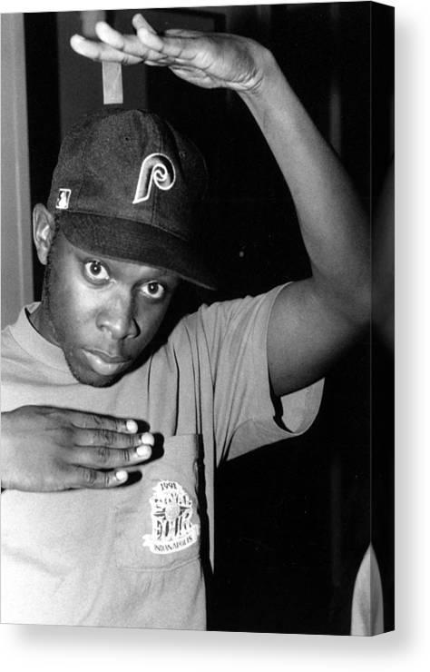 Music Canvas Print featuring the photograph Photo Of A Tribe Called Quest by Al Pereira