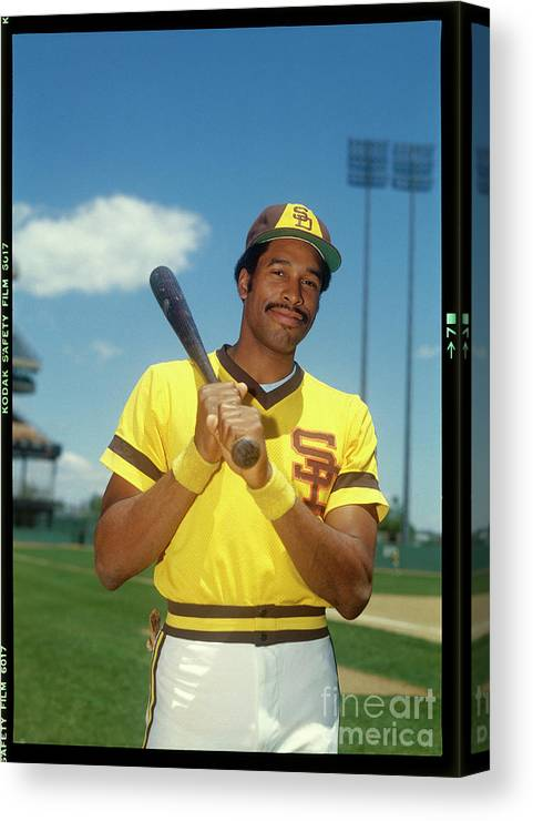 Sports Bat Canvas Print featuring the photograph Dave Winfield by Louis Requena