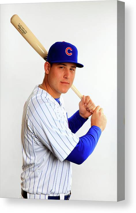 Media Day Canvas Print featuring the photograph Anthony Rizzo by Jamie Squire