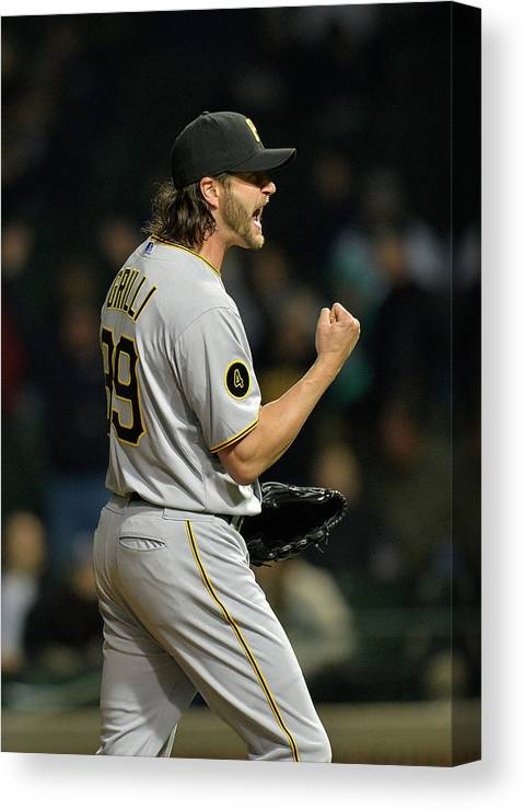 Fist Canvas Print featuring the photograph Jason Grilli by Brian Kersey