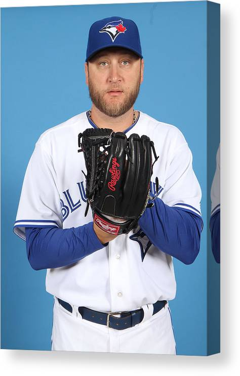 Media Day Canvas Print featuring the photograph Mark Buehrle by Marc Serota
