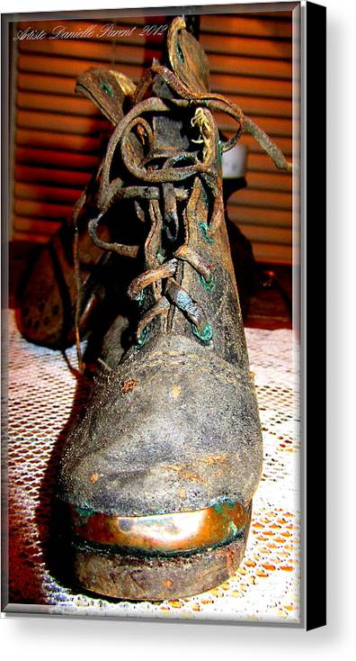 Old Canvas Print featuring the photograph Antique Boots by Danielle Parent