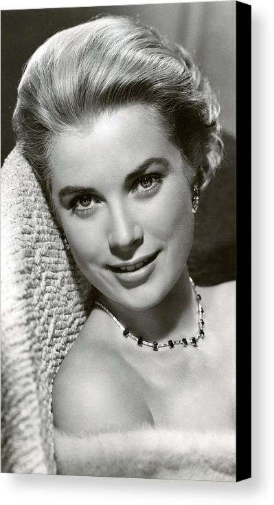 Retro Images Archive Canvas Print featuring the photograph Grace Kelly Smiles by Retro Images Archive