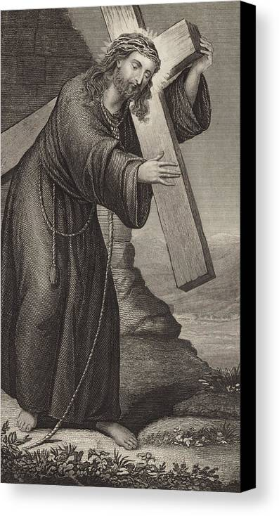 Bible Canvas Print featuring the drawing Man Of Sorrow by English School