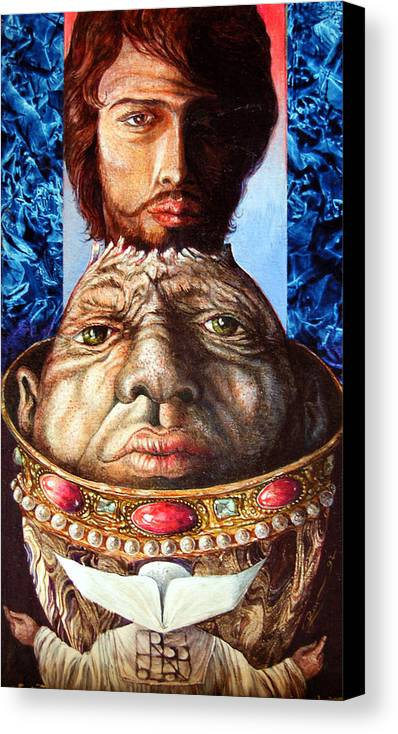 Surrealism Canvas Print featuring the painting Parthenogenesis II by Otto Rapp