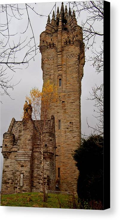 Monument Canvas Print featuring the photograph William Wallace Monument Scotland by John Bailey