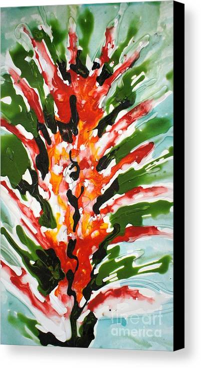 Flowers Canvas Print featuring the painting Divineflowers by Baljit Chadha