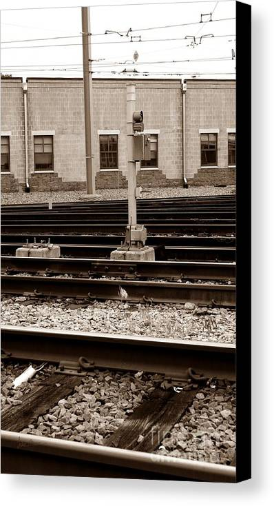 Train Canvas Print featuring the photograph Depot by Luke Moore