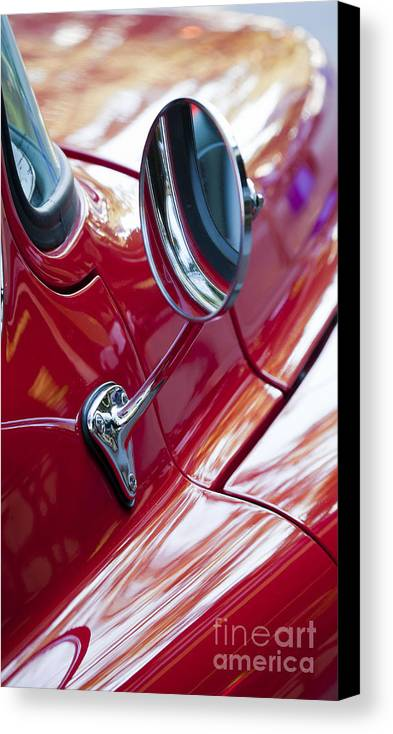 Wing Canvas Print featuring the photograph Wing Mirror by Chris Dutton