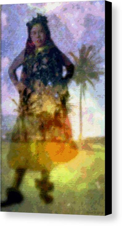 Tropical Interior Design Canvas Print featuring the photograph Aluna Ahiahi Hula by Kenneth Grzesik