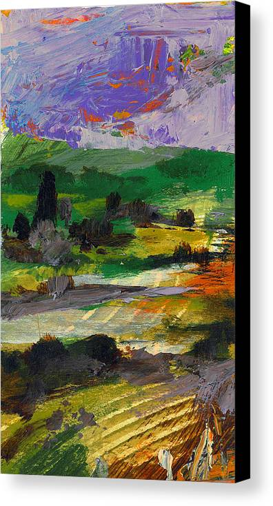 Landscape Canvas Print featuring the painting Hillside Pastures by Dale Witherow