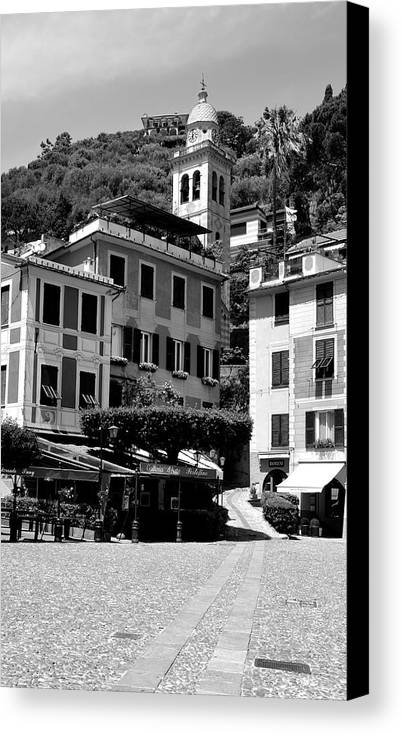 Portofino Canvas Print featuring the photograph Italian Riviera by Corinne Rhode