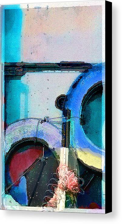 Abstract Canvas Print featuring the photograph panel three from Centrifuge by Steve Karol