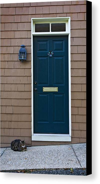 Door Canvas Print featuring the photograph Patiently Waiting by Murray Bloom