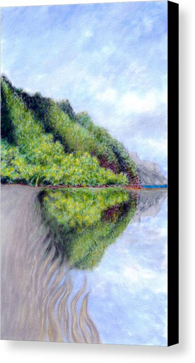 Coastal Decor Canvas Print featuring the painting Reflection by Kenneth Grzesik