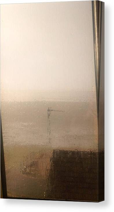 View Canvas Print featuring the painting Outlook by Judith Desrosiers