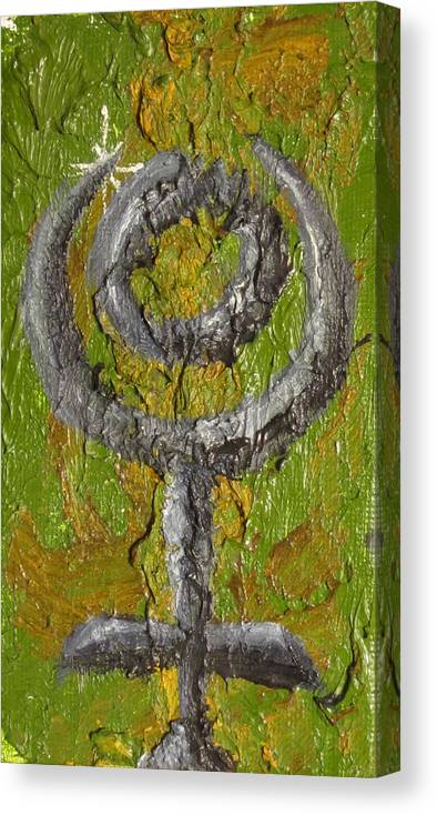 Design Canvas Print featuring the painting Pluto Glyph by Jeffrey Oleniacz