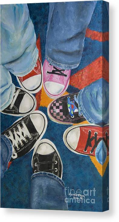 7557b3f33bda6 Teens In Converse Tennies Canvas Print