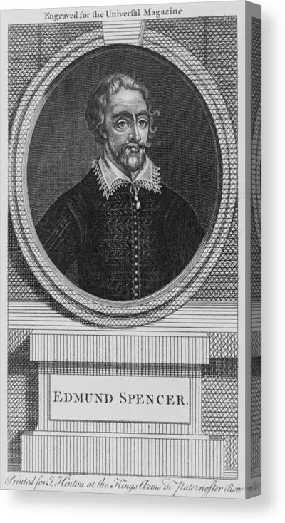 History Canvas Print featuring the photograph Edmund Spenser 1552-1599 English Poet by Everett
