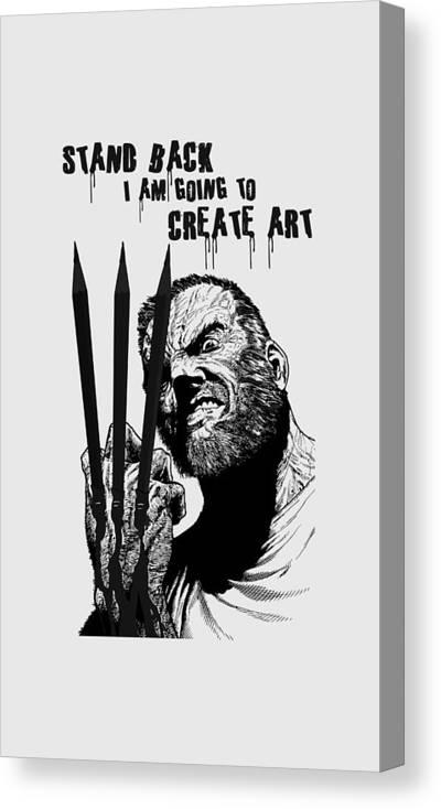 Canvas Print featuring the digital art Create Art by Jonas