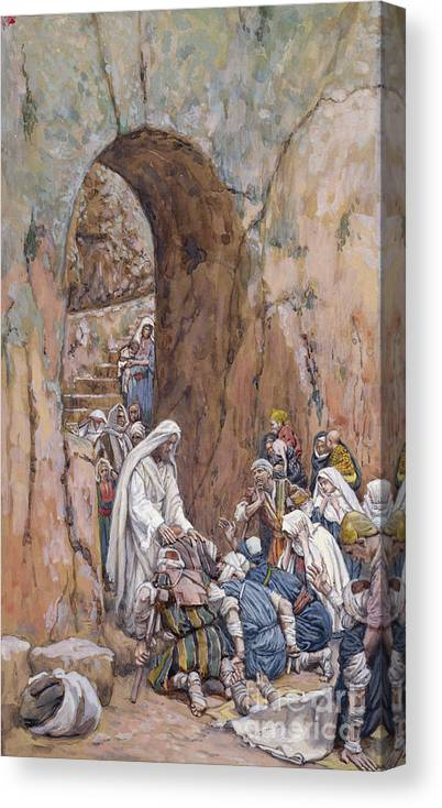 Did Canvas Print featuring the painting He Did No Miracles Save That He Healed Them by Tissot